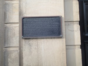 Plaque marking the headquarters of the Duke of York at Alkmaar