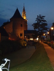 Schagen Castle looking out to market square and church