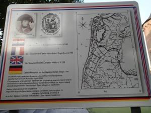 Plaque commemorating the 1799 Helder expedition in Schagen