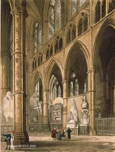 R. Ackermann, North Transept of Westminster Abbey (1809), from http://www.motco.com/index-london/imageone-a.asp?Picno=9902095