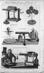Various medical electrical machines, ca 1770