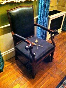 "A ""Merlin chair"" from Kenwood House (photo Ashley Wilde)"