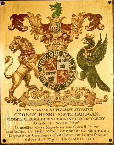 A later Garter Stall Plate (1891); Chatham's was similar (Wikimedia Commons)