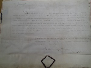 Dispensation installing Chatham as a Knight Companion of the Garter (29 May 1801) (PRO 30/8/371)