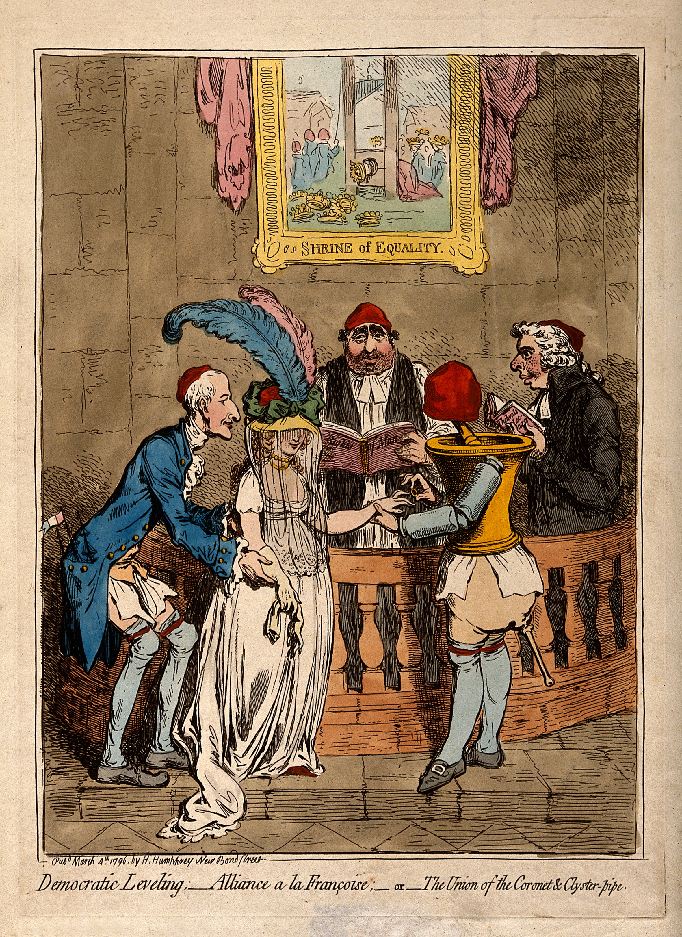 V0011301 The wedding of Lady Lucy Stanhope to Thomas Taylor, a